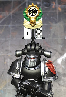 Heresy Era Legion I Dark Angels Tactical Marine with Vexilla WIP