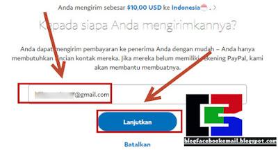 cara mengirim uang di paypal gratis