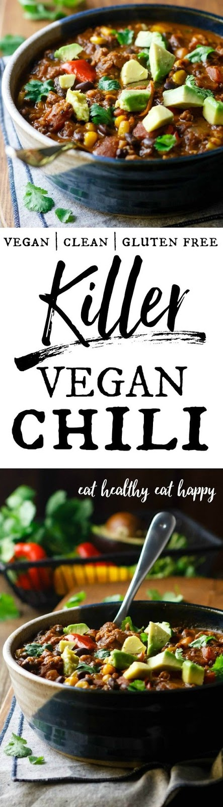 KILLER VEGAN CHILI #vegan #chili #soup #dinner