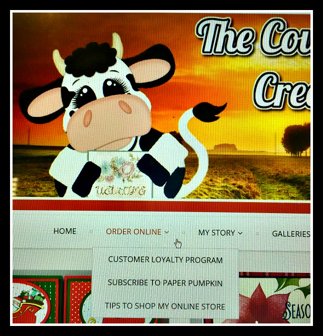 Blog, Order, The Cow Whisperers Creative Cards, Stampin UP