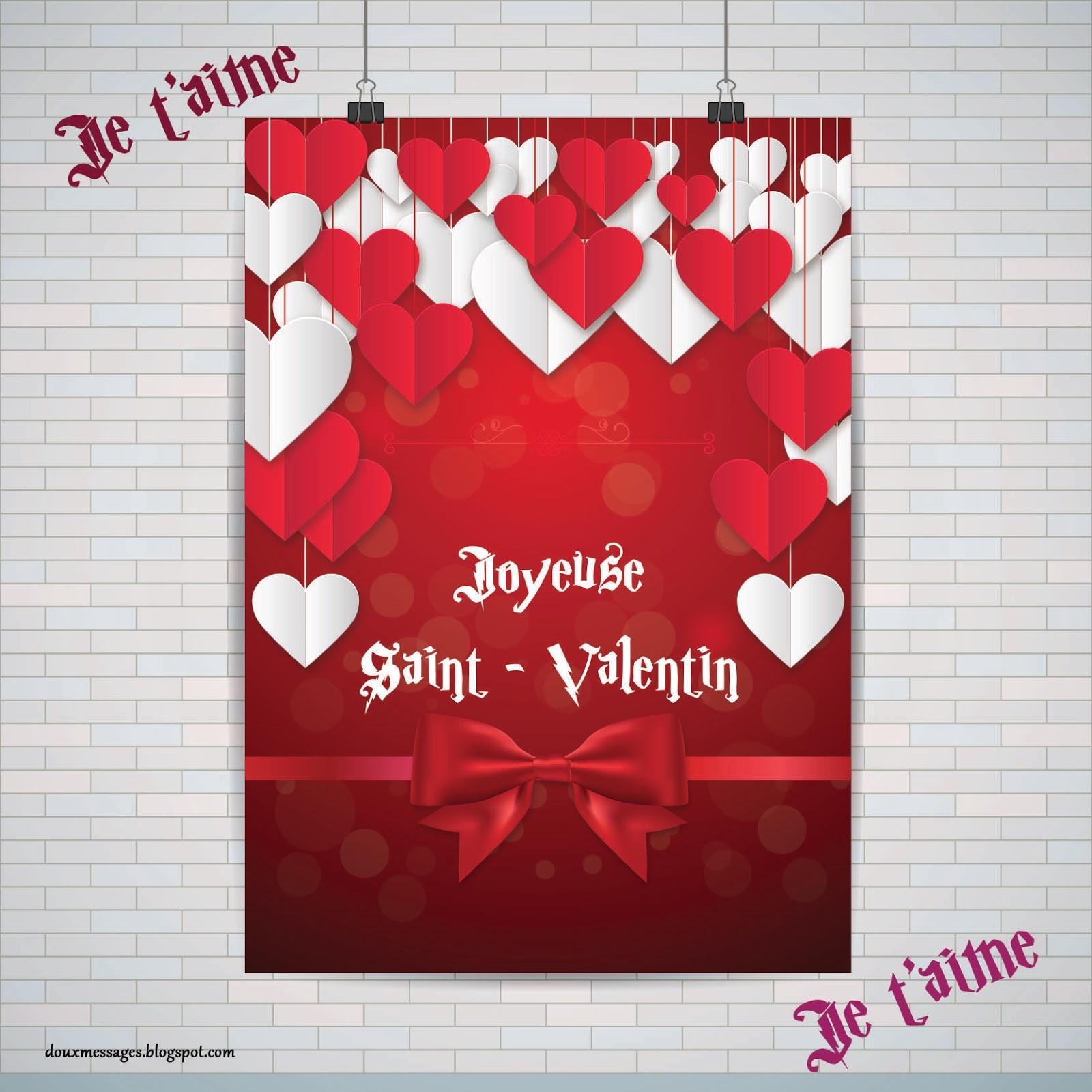Message D Amour Pour La Saint Valentin Messages Doux