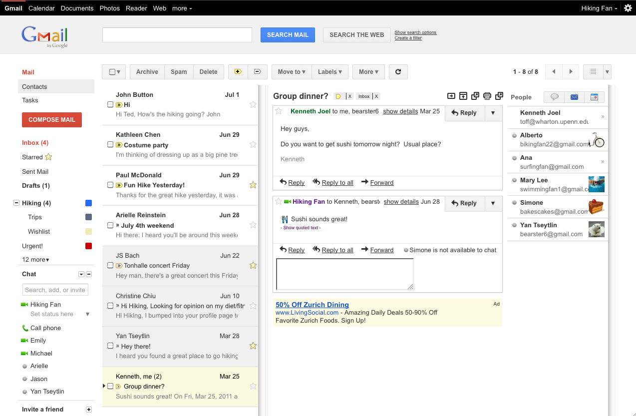 Gmail: Official Gmail Blog: New In Labs: Preview Pane