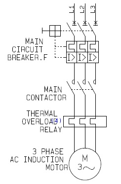 power circuit and control circuit of star delta starter