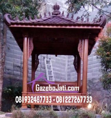 Gazebo Ukir Kayu Jati