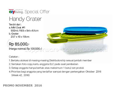 Handy Grater Promo Tupperware November 2016
