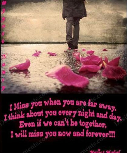 Love Quotes and Love Poems: Missing You Quotes