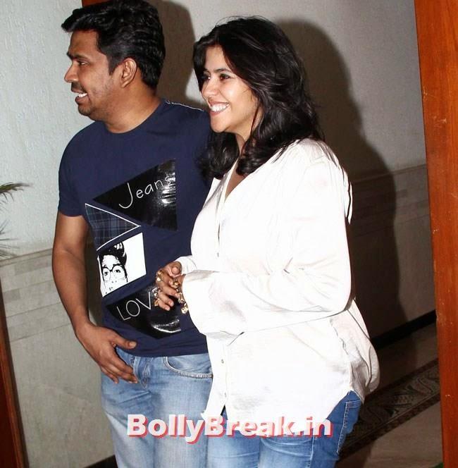 Mushtaq Sheikh and Ekta Kapoor, Salman, Jacqueline at Ek Villain Success Party by Sidharth Malhotra