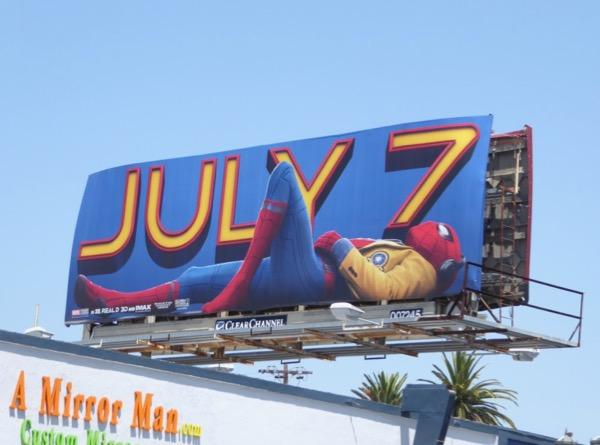 Spiderman Homecoming film billboard