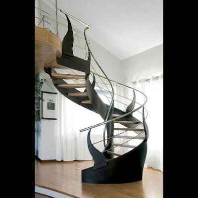 Siapa yang tidak mengenal dengan model tangga spiral 55 Model Tangga Spiral Modern yang Unik dan Cantik