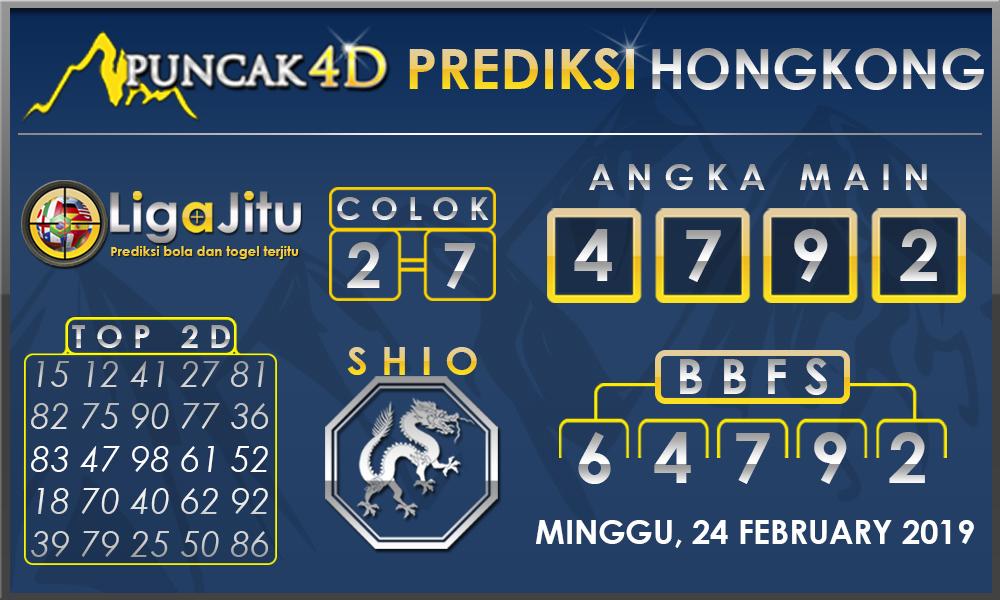 Prediksi Togel HONGKONG PUNCAK4D 24 FEBRUARY 2019