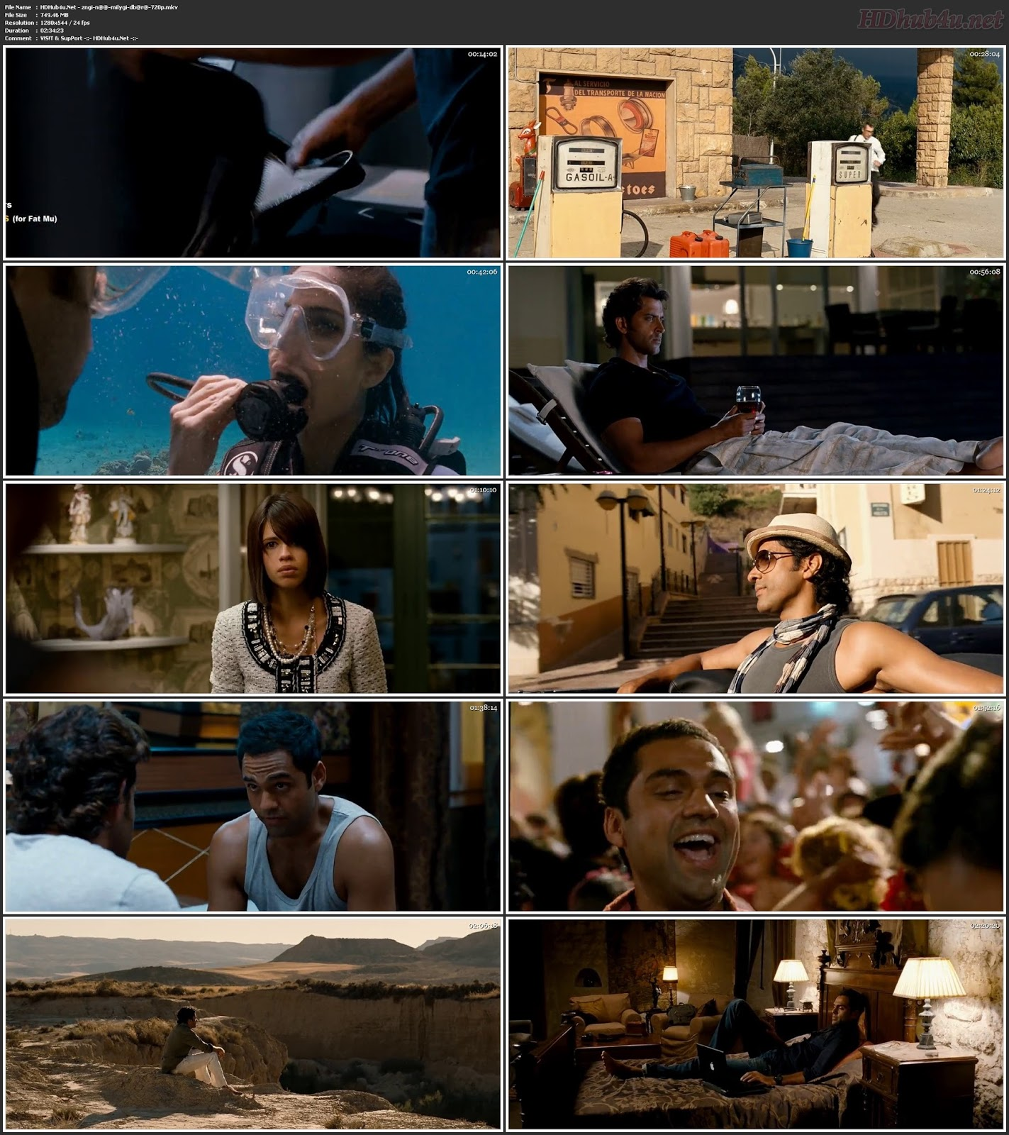 Zindagi Na Milegi Dobara 2011 Hindi Movie 480p BluRay 450Mb Download