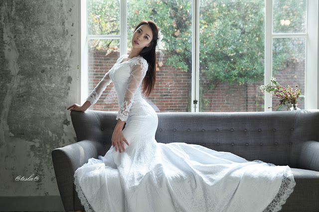 1 Ju Da Ha - wedding dress - very cute asian girl-girlcute4u.blogspot.com