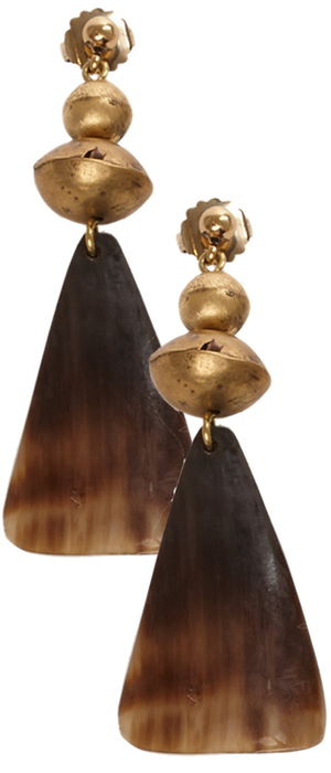 Ralph Lauren Horn Drop Earrings