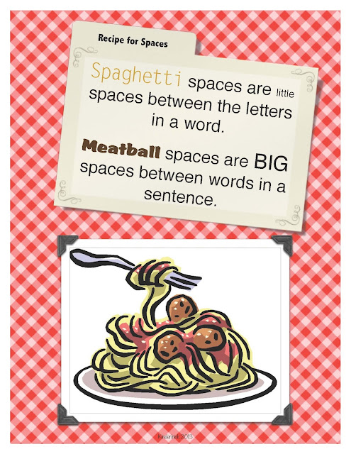 Spaghetti meatball spaces writing a check