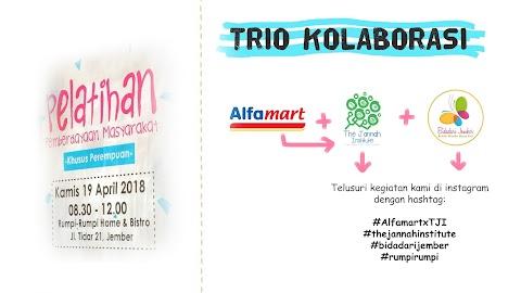 Trio Kolaborasi Alfamart Jember, The Jannah Institute, dan Bidadari Jember dalam Pelatihan Pemberdayaan Masyarakat Khusus Perempuan