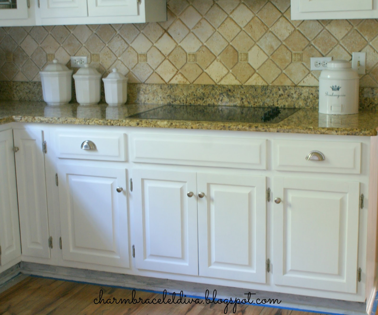 Our Hopeful Home Diy White Modern Farmhouse Painted Kitchen Cabinets