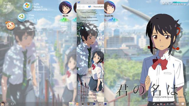 Windows 10 Ver. 1703 Theme Kimi no Nawa by Enji Riz