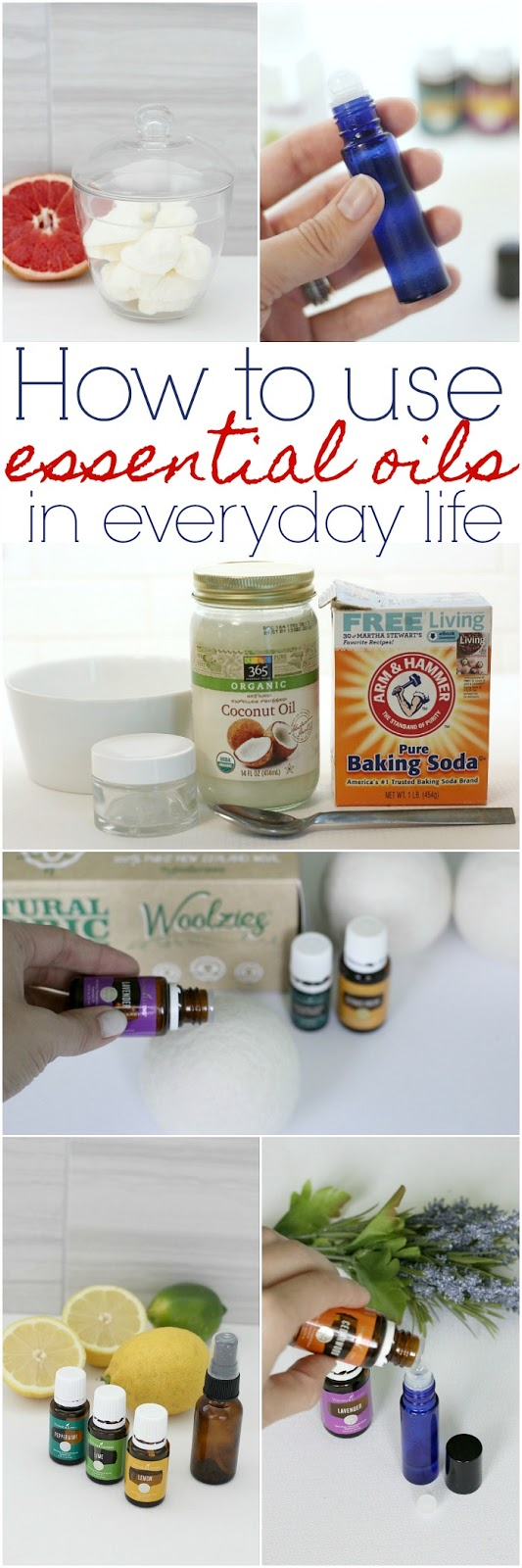 How to use essential oils in every day life, DIY with essential oils, homemade products with essential oils, using essential oils