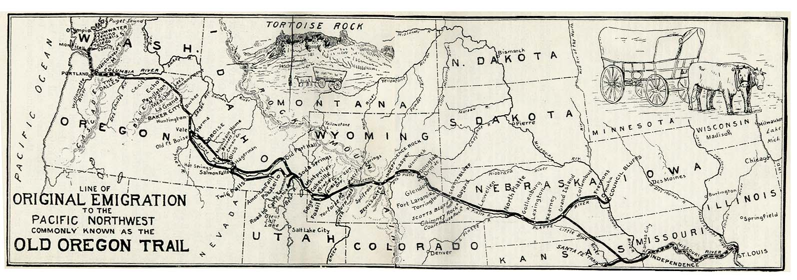 A look at the popular overland emigrant route in the united states the oregon trail