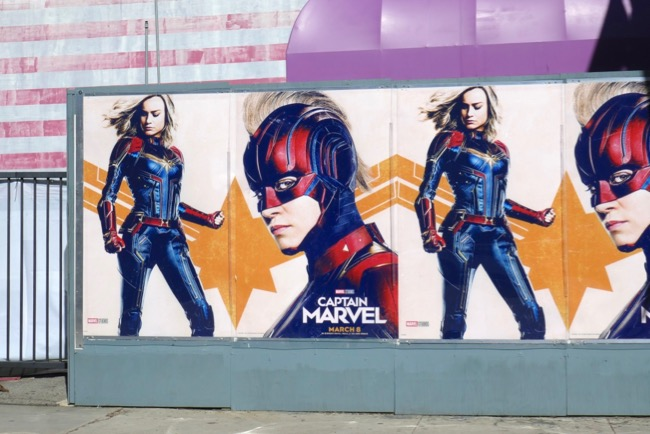 Captain Marvel movie street posters