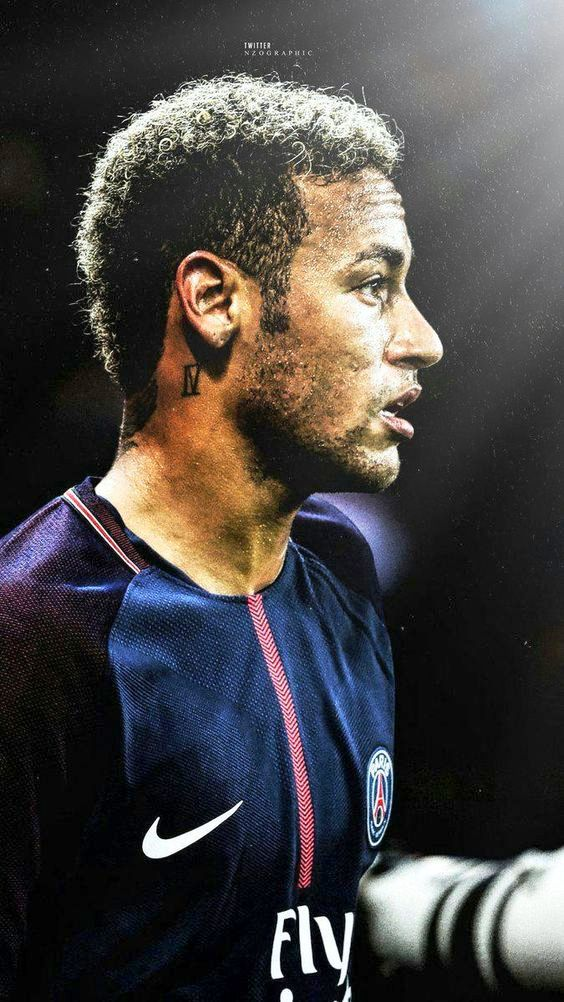 gaya rambut Neymar JR pemain sepak bola PSG