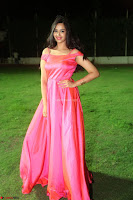 Actress Pujita Ponnada in beautiful red dress at Darshakudu music launch ~ Celebrities Galleries 039.JPG