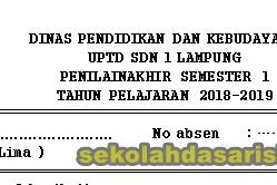 SOAL PAS Kelas 5 Tema 1,2,3,4,5 Semester 1 Tahun Ajaran 2018/2019 kurikulum 2013
