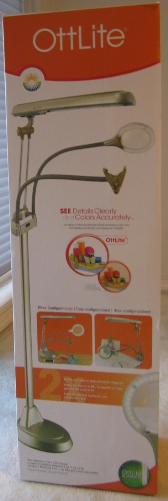 Review of the ottlite 3 in 1 adjustable height craft floor for Ottlite 3 in 1 craft floor lamp