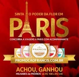 Cadastrar Promoção Francis Sabonetes 2018 Achou Ganhou Viagem Paris
