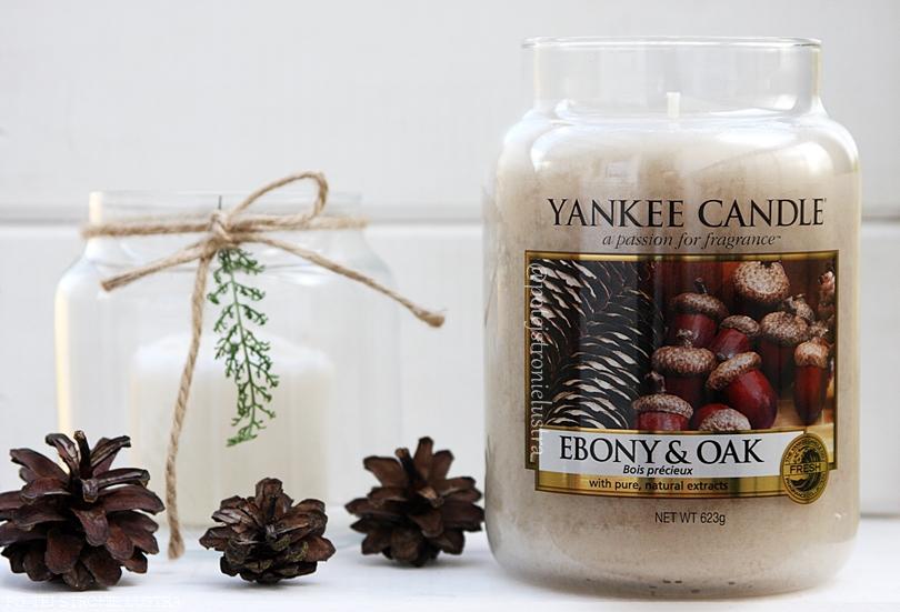 duża świeca zapachowa yankee candle ebony & oak