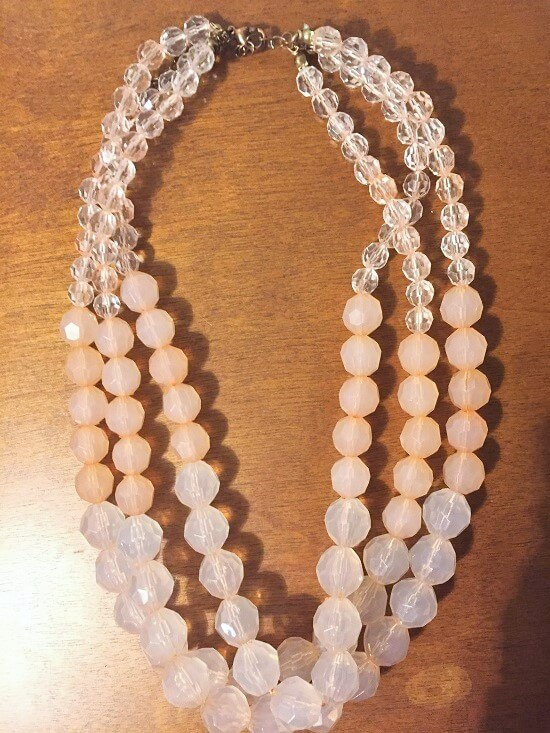 rue21 pink beaded jewel necklace