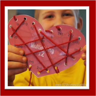 valentines day math self checking multiplication game