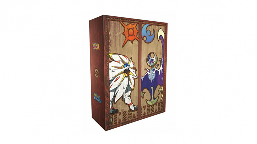 Mira el baúl de Pokémon Sol y Luna con bolígrafo y libreta especial