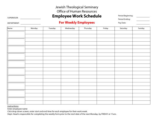 Duringread more free employee schedule template excel, word Free Printable Weekly Work Schedule Template