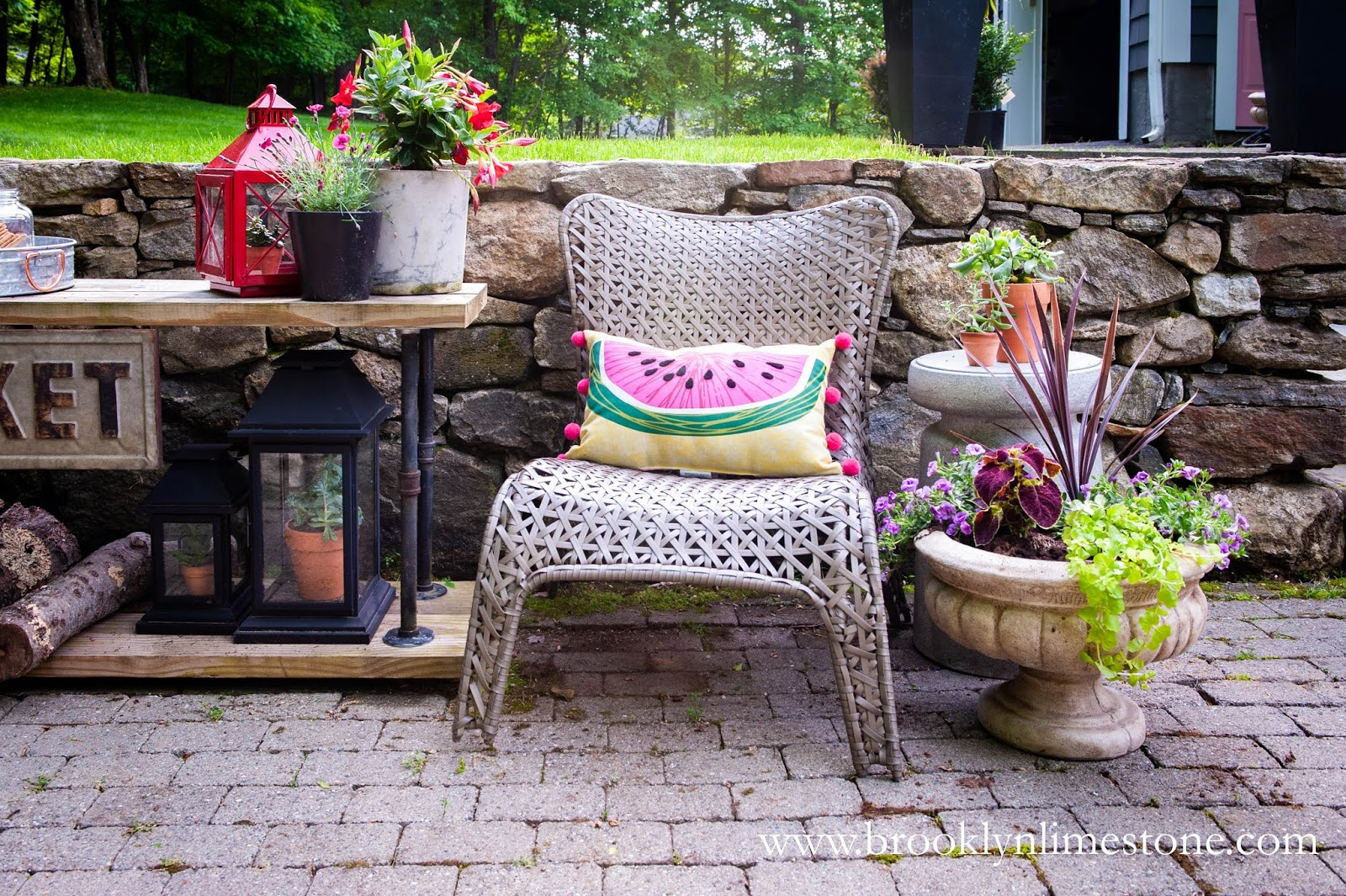diy outdoor pipe table