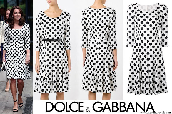 Kate Middleton wore DOLCE & GABBANA polka dot dress