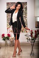 Compleu negru elegant accesorizat cu fermoare