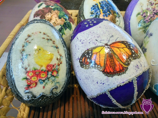 easter egg decoupage butterfly