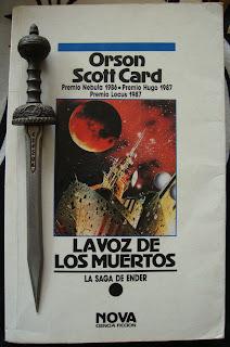 Portada del libro La voz de los muertos, de Orson Scott Card