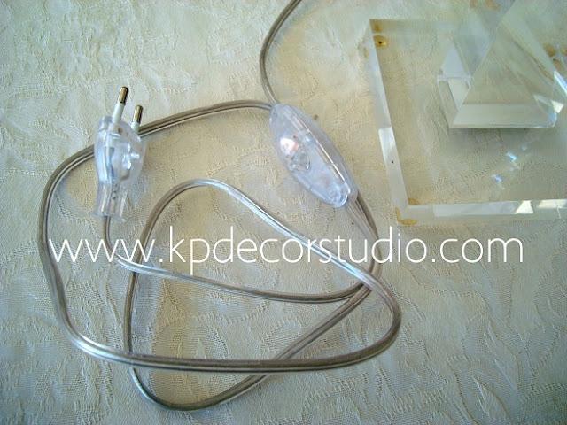 comprar lampara antigua, como restaurar una lampara, recablear una lampara, cable trasparente para lampara de cristal