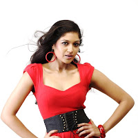 Meghana raj in red dress