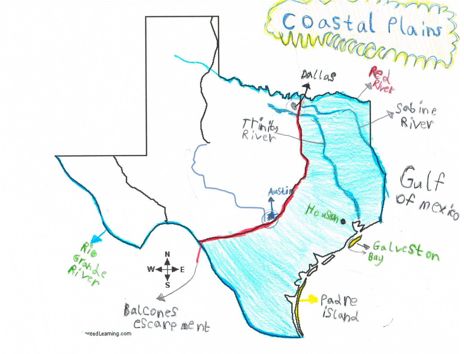 Map Of Texas Coastline.Map Of Texas Coast West Hollywood Map