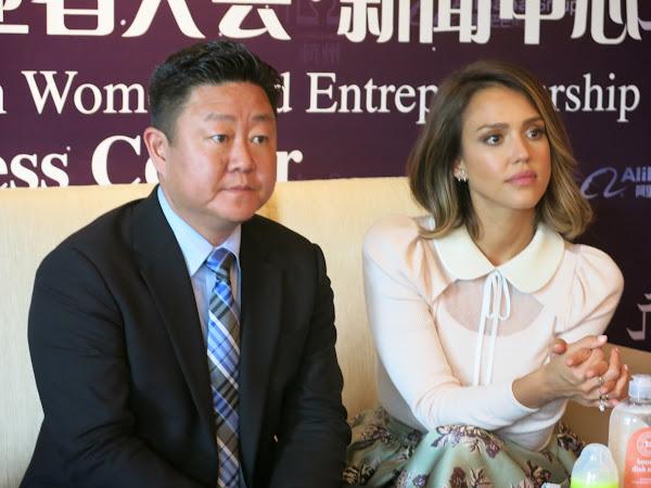 潔西卡艾芭與合夥人Brian Lee。盧諭緯攝