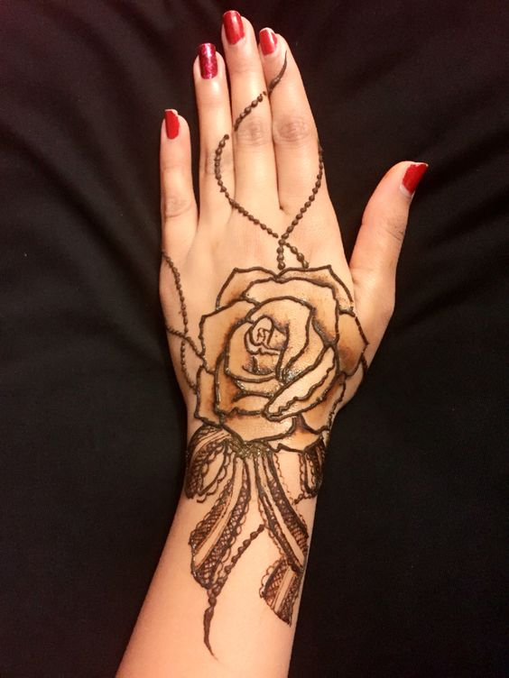 10 Stunning Rose Mehndi Designs For All Occasions Bling Sparkle