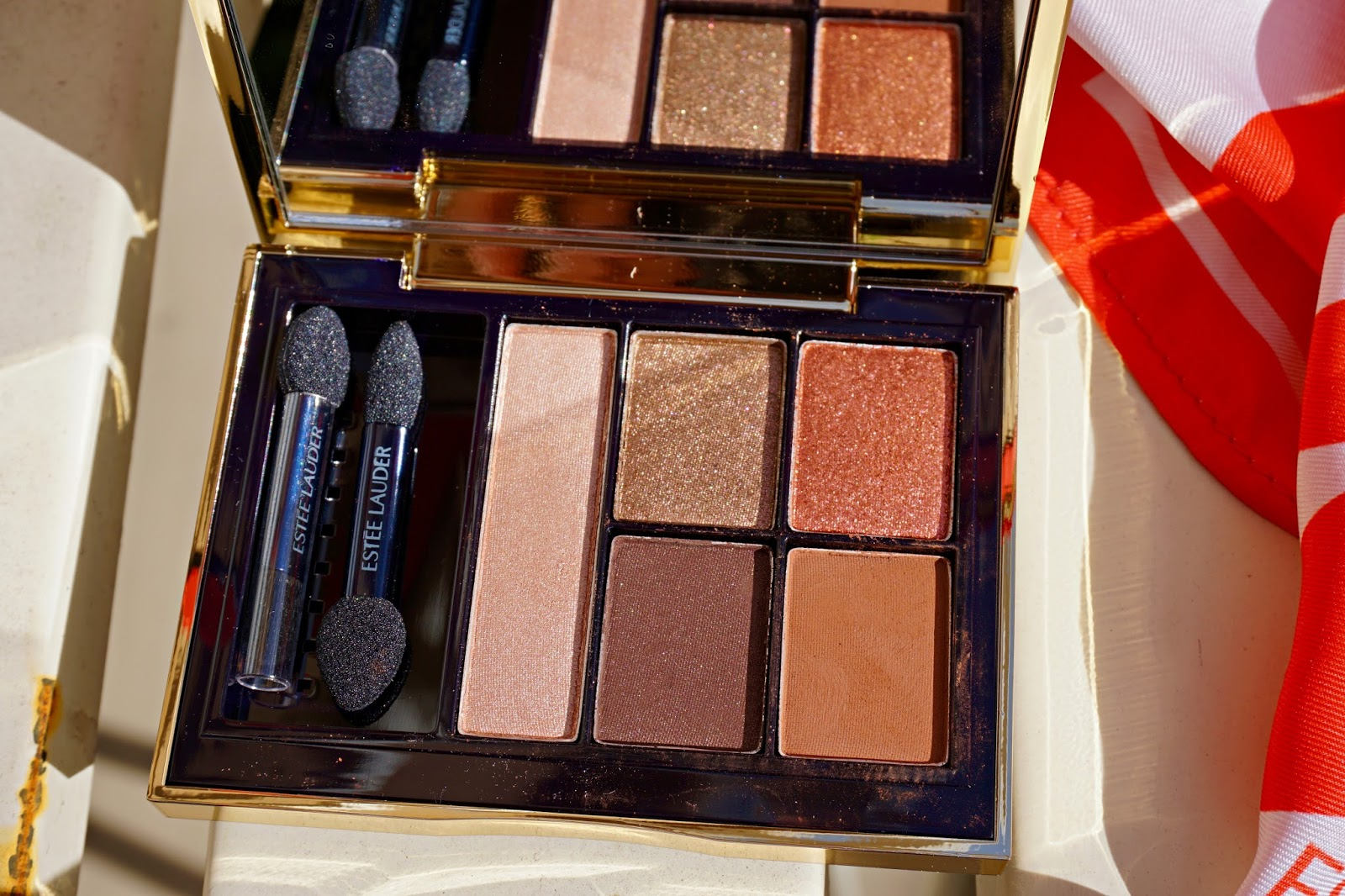 estee lauder by violette eyeshadow swatches