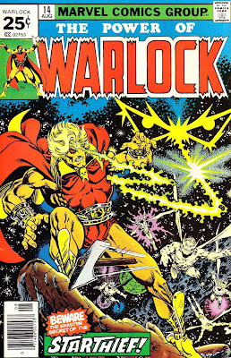 Warlock v1 #14 marvel 1970s bronze age comic book cover art by Jim Starlin