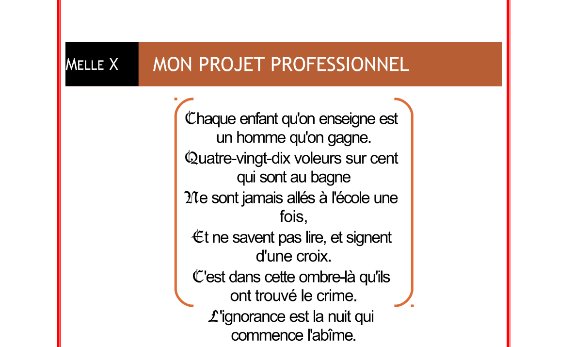 Exemple de projet professionnel PrepaSUP