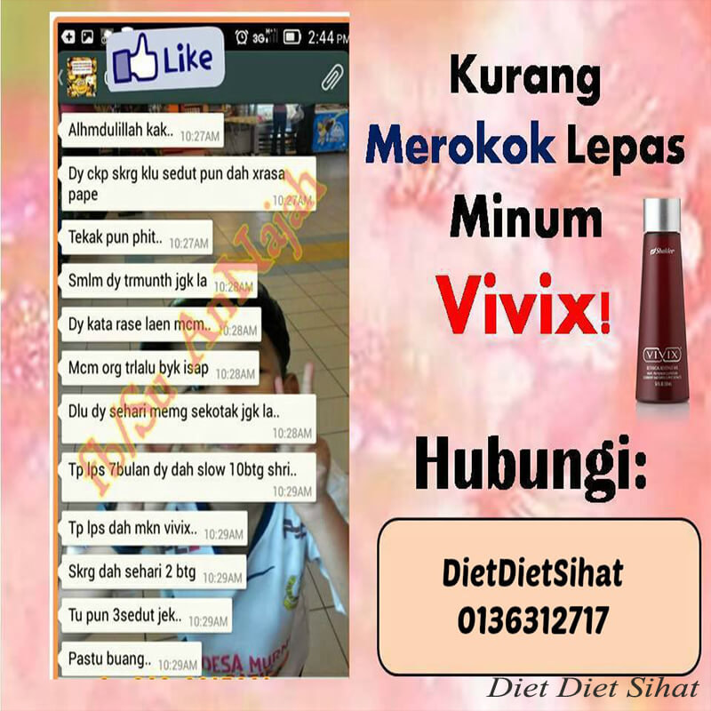 berhenti merokok lepas minum vivix