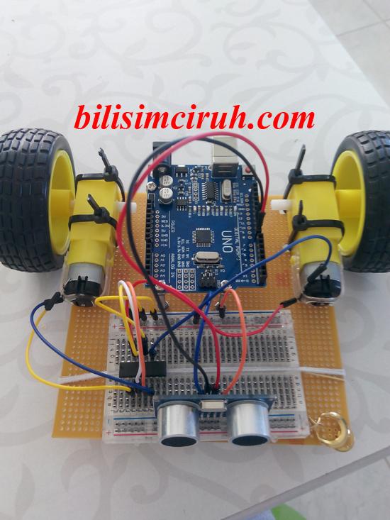 Arduino engelden kaçan robot yapımı bilişim