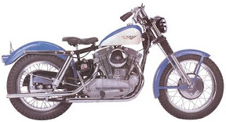 sportster xlch 1958 blue and white